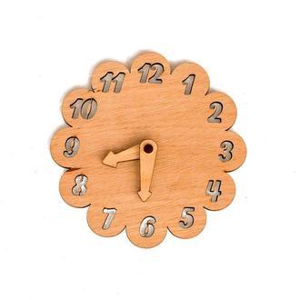 Заготовка Деревянные ЧАСЫ Ромашка Цветочек для бизиборда со Стрелками Дерев'яні годинники