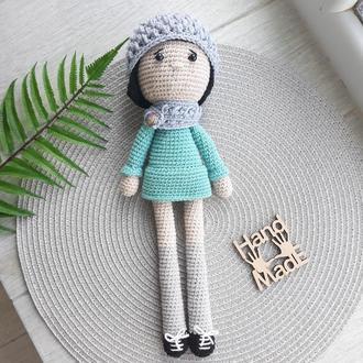 Кукла Софи из пряжи вязаная крючком