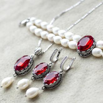 Комплект украшений свадебный или торжественный подарок любимой