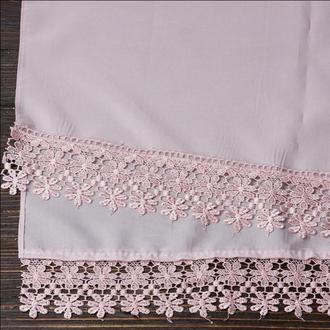 Венчальный шаль пудровый, арт. PV-1002