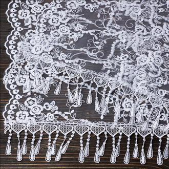 Венчальный шаль белый, арт. PV-1091