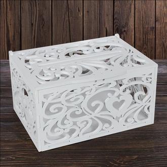 Свадебный деревянный сундук, арт. SD-00061