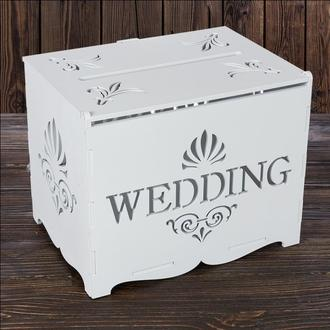 """Свадебный деревянный сундук """"WEDDING"""", арт. SD-00003"""