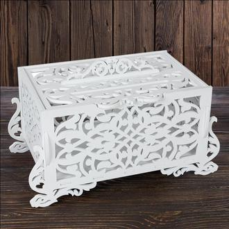 Свадебный деревянный сундук, арт. SD-00077