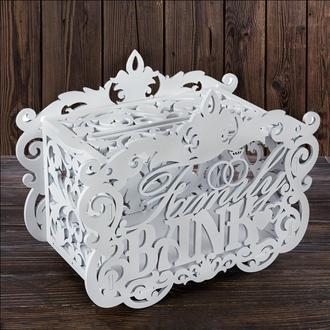 """Свадебный деревянный сундук""""Family BANK"""", арт. SD-00125"""
