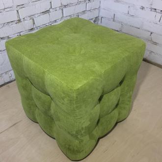 Пуф квадратный Куб 45х45 см салатовый Gordon 35