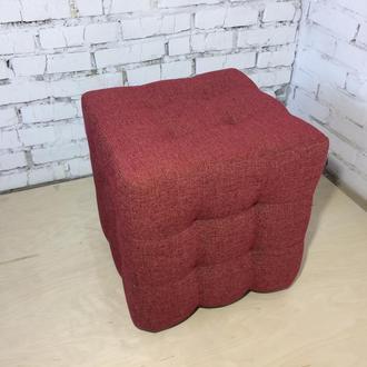 Пуф квадратный Куб 45х45 см красный Icon 59