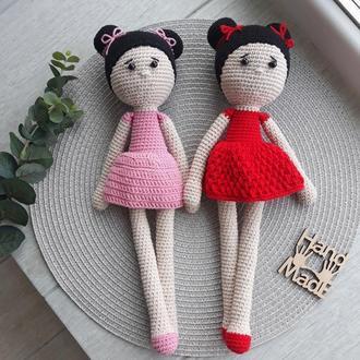 Мягкая вязаная крючком кукла Лили