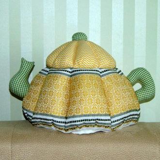 Чайник-грелка в этно стиле желтая