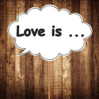 """Табличка """"Love is"""", арт. F-142"""
