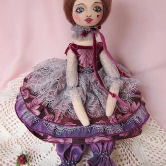 Текстильная кукла Виолетта