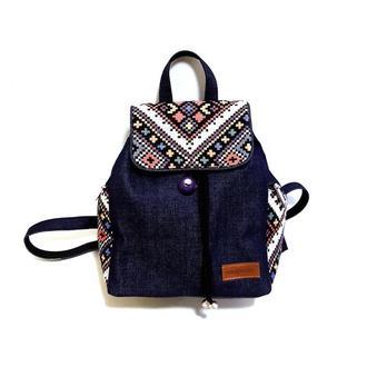 15007-4 Джинсовий рюкзак, декорований гобеленом