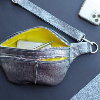 Бананка кожаная, сумка на пояс