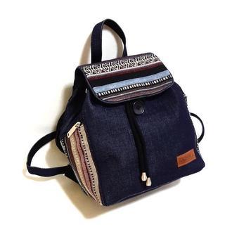 15007-8 Джинсовий рюкзак з гобеленовим декором