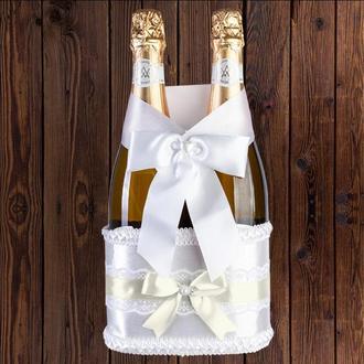 Корзинка для свадебного шампанского, бежевый цвет (на 2 бутылки), BFB-12
