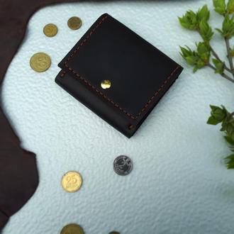 Мини кошелек женский. Кожаный кошелек с монетницей. Подарок девушке.