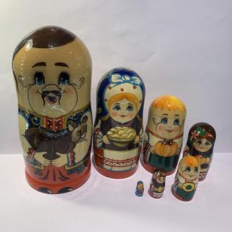 """Матрешка 7-ка """"Козак"""" """"Семейка"""" """"Украина"""""""