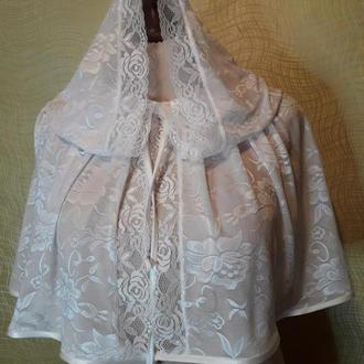 платок для храма, венчальный капор