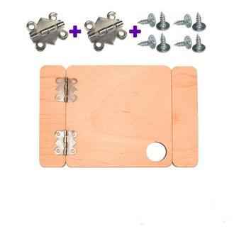 Заготівля Дерев'яна ДВЕРЦЯТА проста 8см + ПЕТЛІ + САМОРІЗИ для бизиборда дверцята двері
