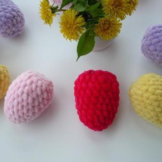 🍓 Пасхальные яйца - декор. Пасхальные поделки. Вязаные крючком яйца.