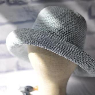 Женская широкополая шляпа из рафии