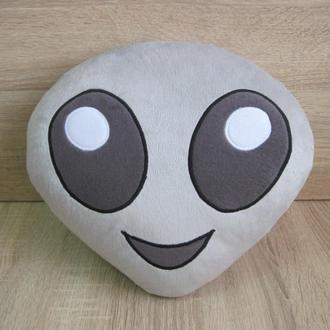 Подушка - игрушка Эмодзи Emoji Смайл инопланетянин