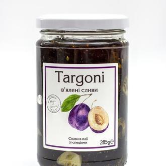 Сливи в'ялені ТМ Targoni в заливці з оливкової та кукурудзяної олій. 285г. Слива вяленая.