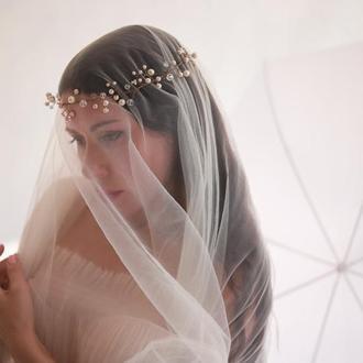 Весільна діадема , перлова діадема , дротове прикраса для волосся
