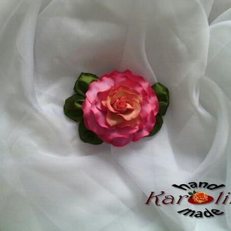 Украшение роза заколка-зажим ручной работы