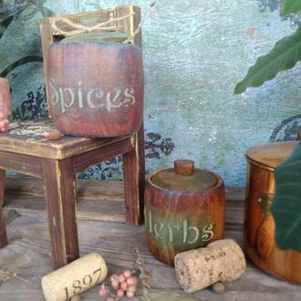 "Набор для специй""Herbs&Spices"", дерево"