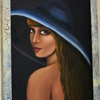 Живопись, Взгляд, размер полотна 30х50см