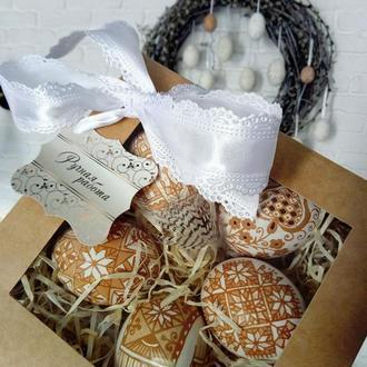 Подарочный набор из куриных травляних яиц