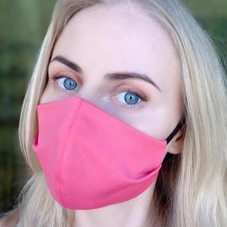 Маска на лицо многоразовая тканевая Silenta Rose Pink
