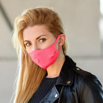 Маска для лица многоразовая (трикотаж) Silenta Розовая