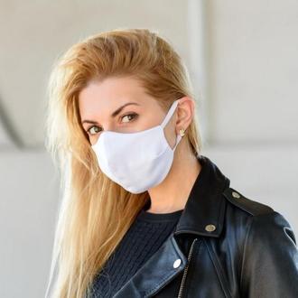 Маска для лица / на лицо многоразовая тканевая Silenta White
