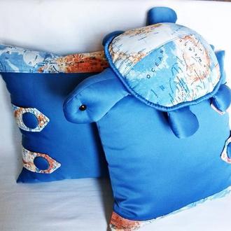 """Комплект подушек для детской""""Морские путешествия"""""""