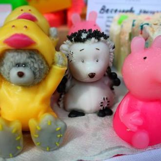 Мишка тедди, пеппа, мыло для детей, подарок ребенку