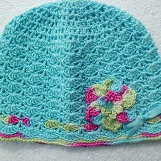 Весенняя детская шапочка