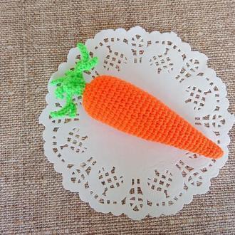Вязаная морковь, мягкие игрушки