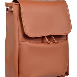Женский коричневый вместительный рюкзак для учебы