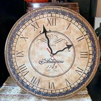 Деревянные круглые часы  ′Antigues Paris′ , настенные