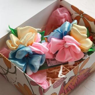 Резиночки с цветами