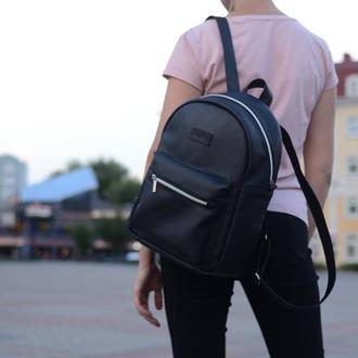 Женский большой черный рюкзак, экокожа