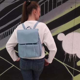 Женский голубой рюкзак для прогулок