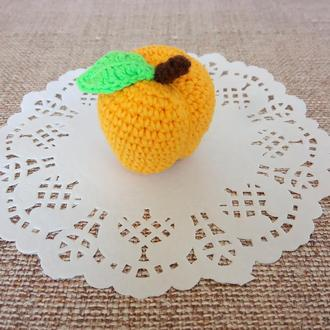 Вязаный абрикос, мягкая игрушка