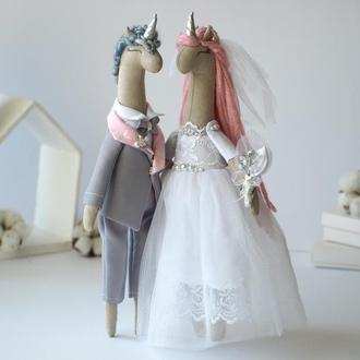 Свадебные куклы, пара молодожен