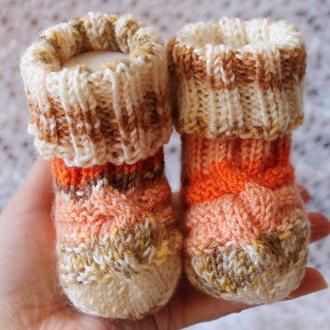 Носочки-рыжики меланжевые