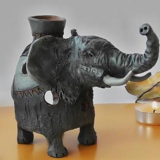 Аромалампа слон подарок в виде аромалампы-слона