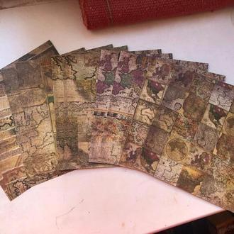 Набор скрапбумаги 20х20см, 10 листов