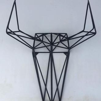 Настенный декор панно Trophy Трофи лофт из металла ручной работы